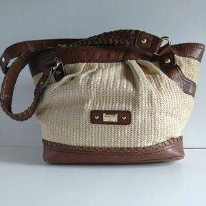 Etienne Aigner Straw Shoulder Bag